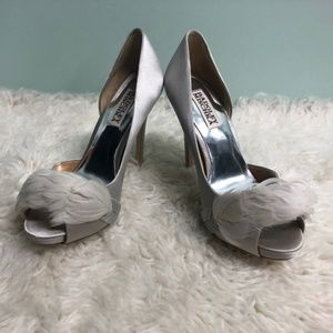 Badgley Mischka Women's High Heels: Piper | Silver